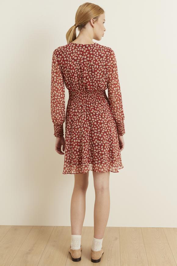 Tarçın Gipeli Şifon Elbise