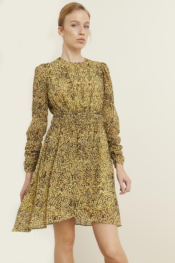 Beli Piliseli Şifon Elbise