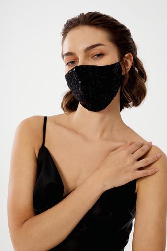 Siyah Payet Maske