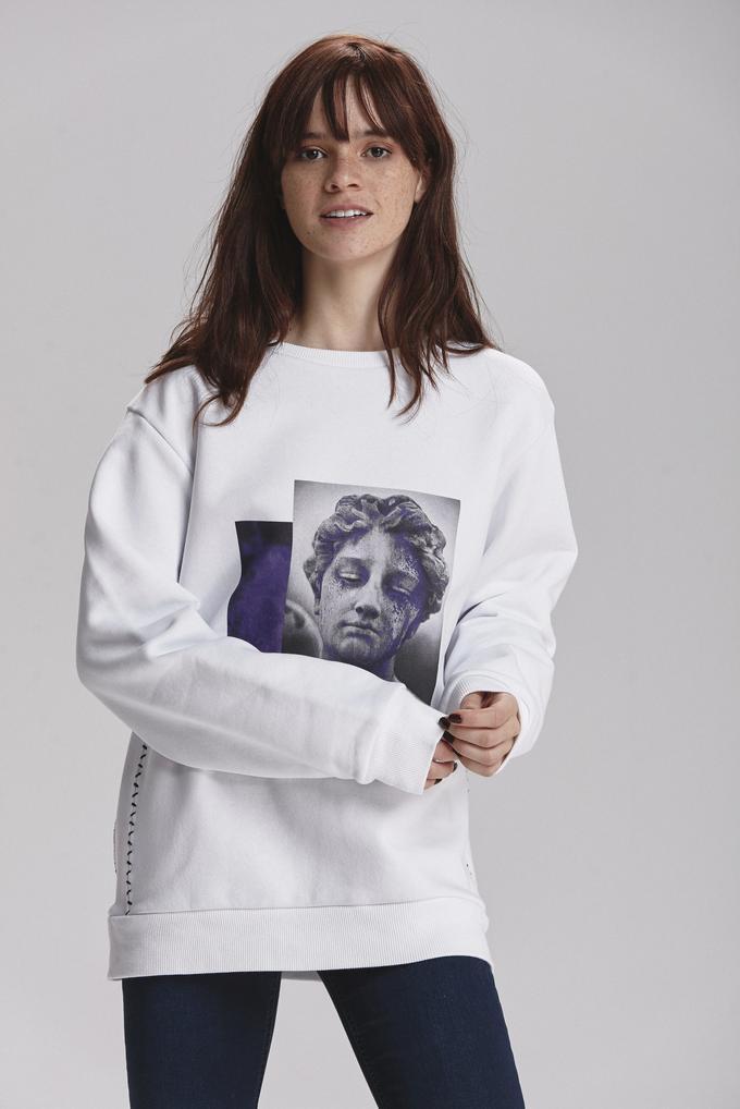 Beyaz Printed Sweatshirt