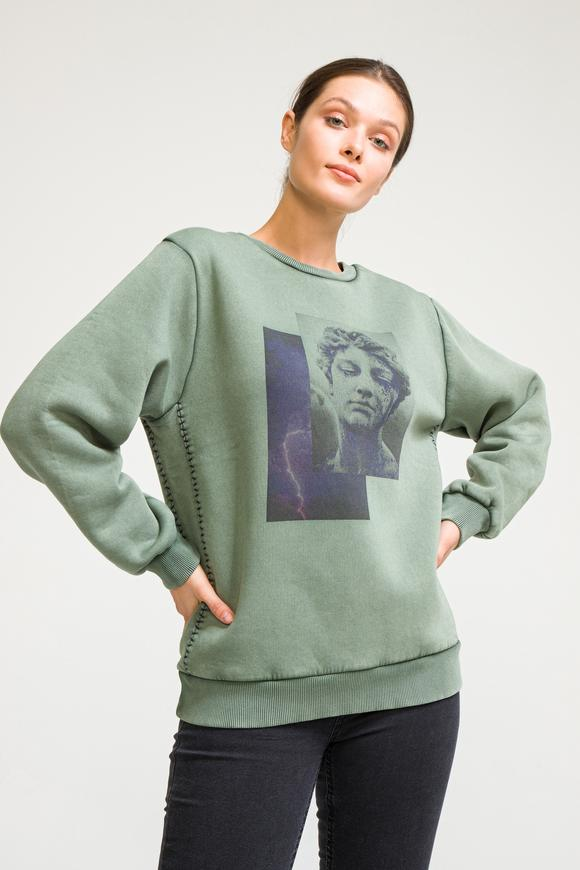 Yeşil Printed Sweatshirt