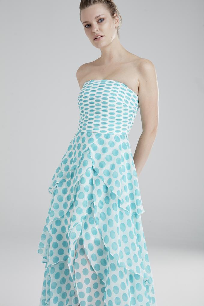 Mavi Staplez Elbise