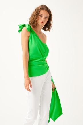 Yeşil Straplez Bluz