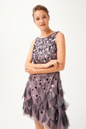 Gri Kolsuz Elbise