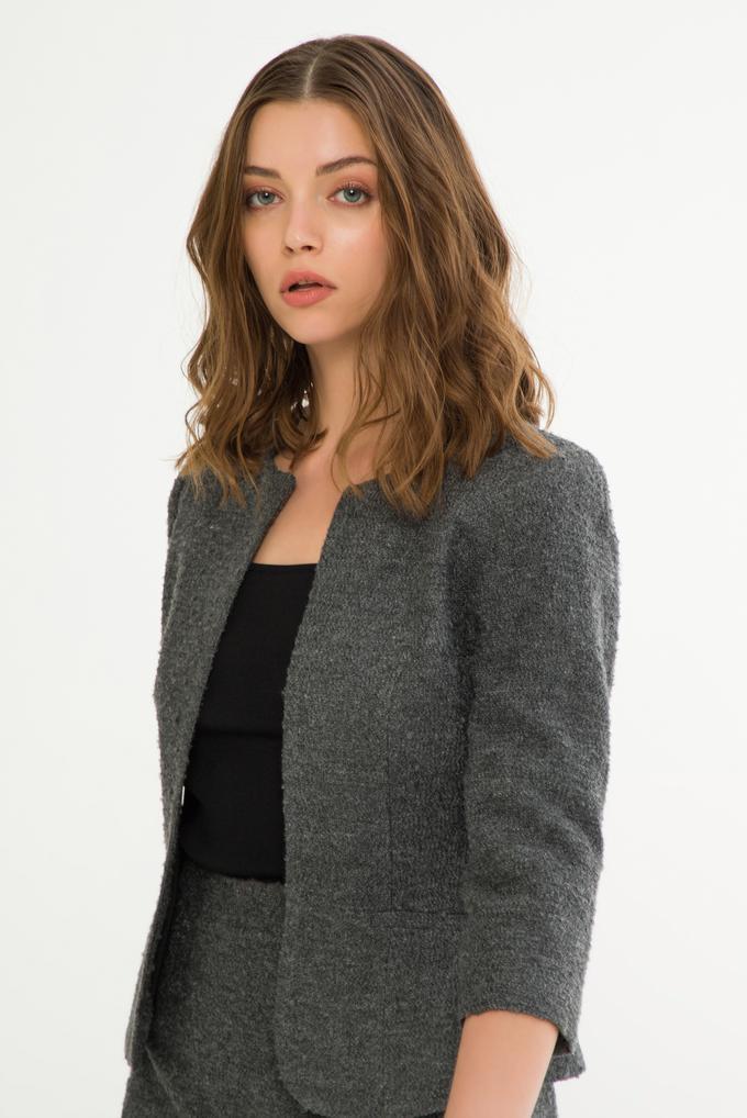 Gri Agraflı  Ceket