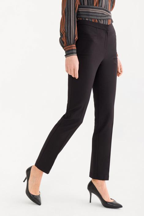 Siyah Boru Paça Pantolon