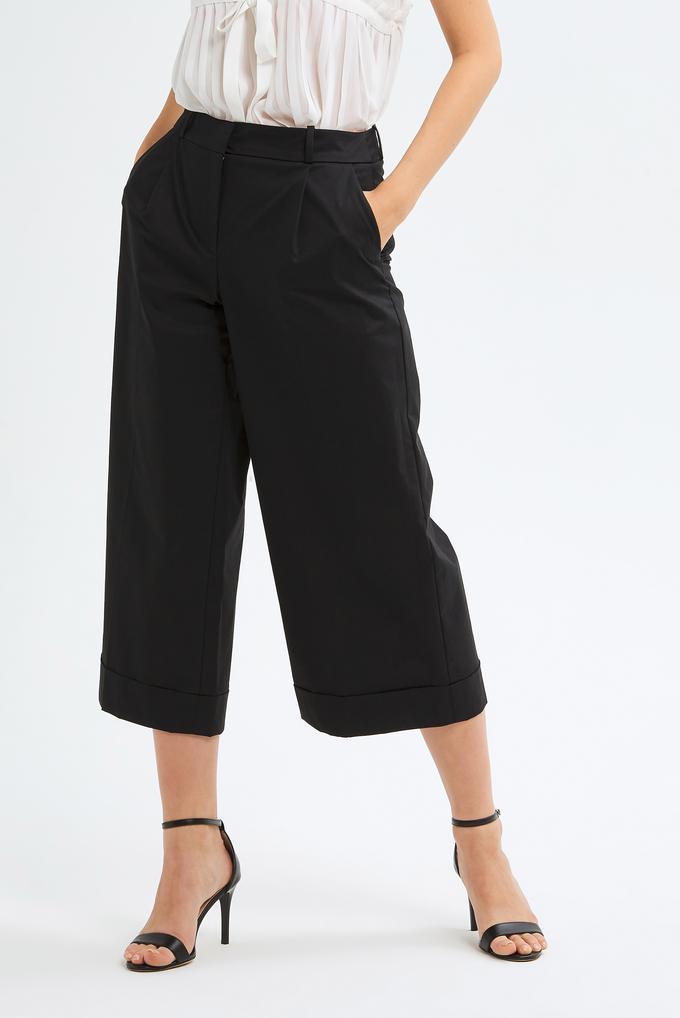 Siyah Duble Paça Pantolon