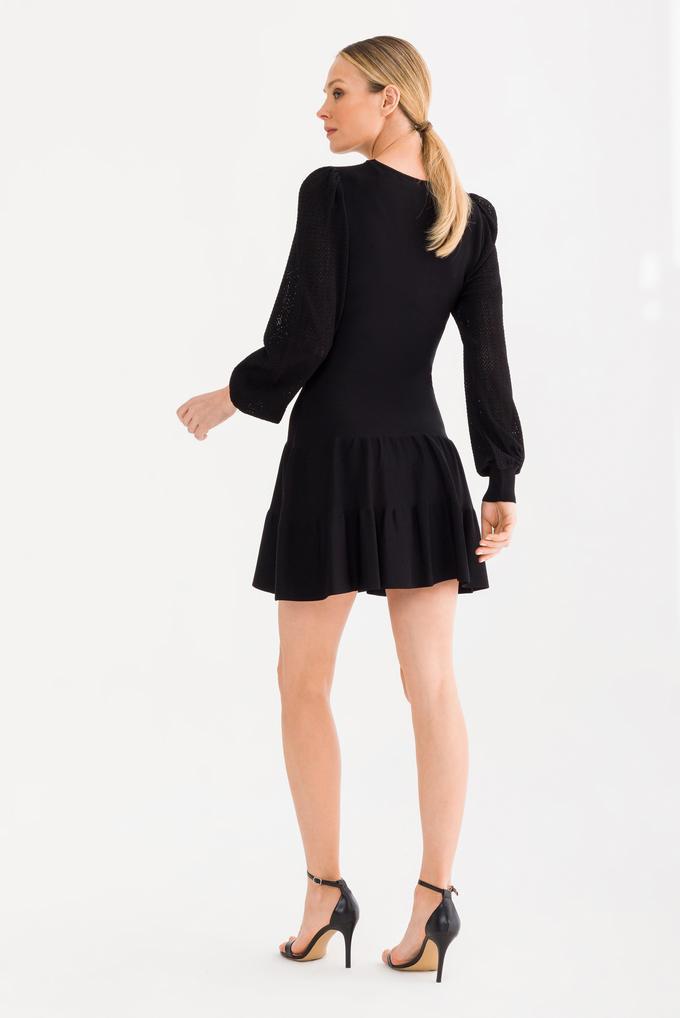 Siyah Triko Elbise