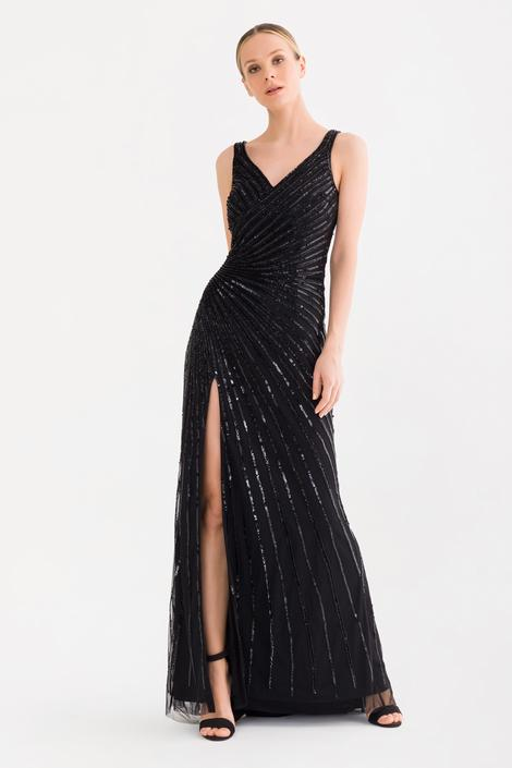 Siyah Boncuklu Elbise