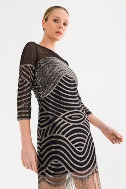 Boncuk İşlemeli Elbise