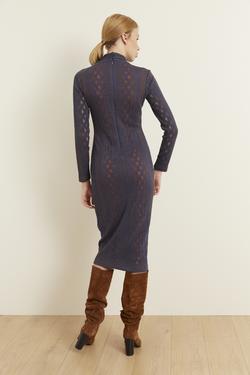 Örme Uzun Kol Dar Elbise