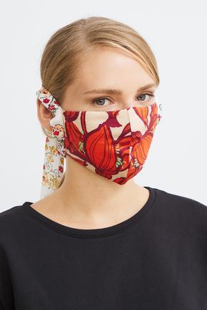 Turuncu Desenli Maske