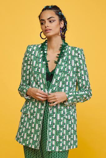 Yeşil Şal Yaka Ceket