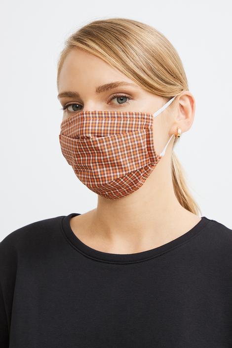 Siyah 2 li Desenli Maske