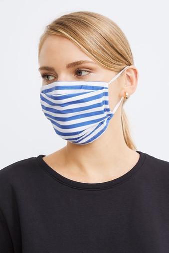 Mavi 2 li Desenli Maske