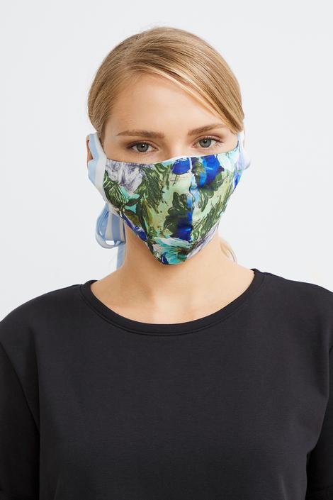 Mavi Desenli Maske