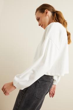 Uzun Kol Crop Sweatshirt
