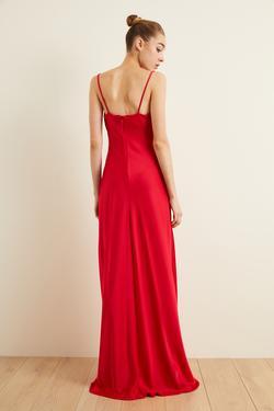 Askılı Slip Saten Elbise