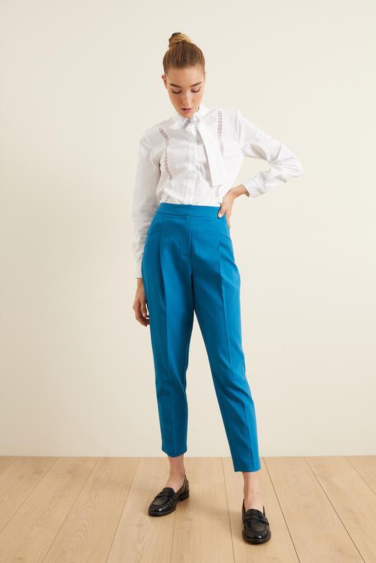 Mavi Fleto Cepli Pileli Pantolon