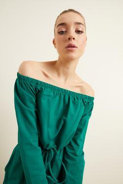 Bağcıklı Crop Sweatshirt