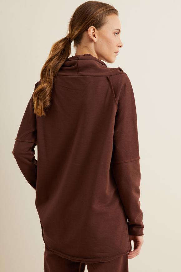 Kahverengi Bato Yaka Sweatshirt