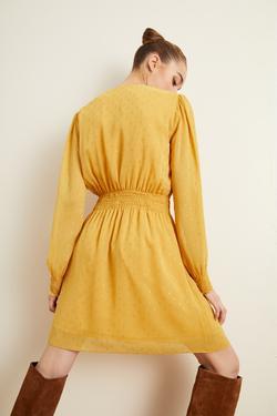 Beli Kroşetalı Şifon Elbise