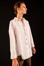 Dikiş Detaylı Oversize Gömlek