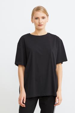 Omuzları Şerit Detaylı Tişört