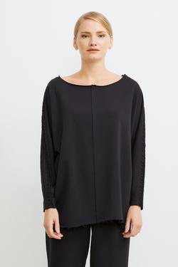 Kolları İnci Detaylı Sweatshirt