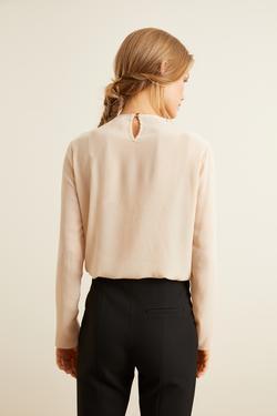 Uzun Kollu Pilikaşeli Bluz