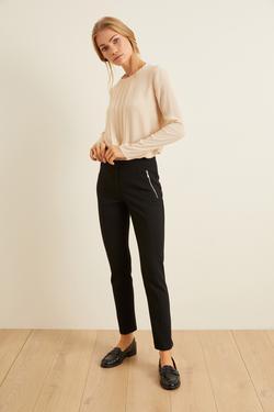 Önden Fermuarlı Pantolon