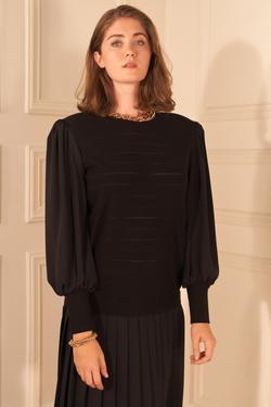 Eteği Şifon Triko Elbise