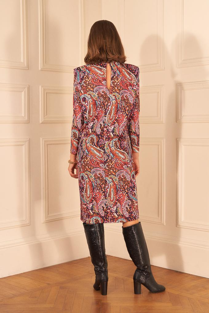 Desenli Vatkalı Elbise