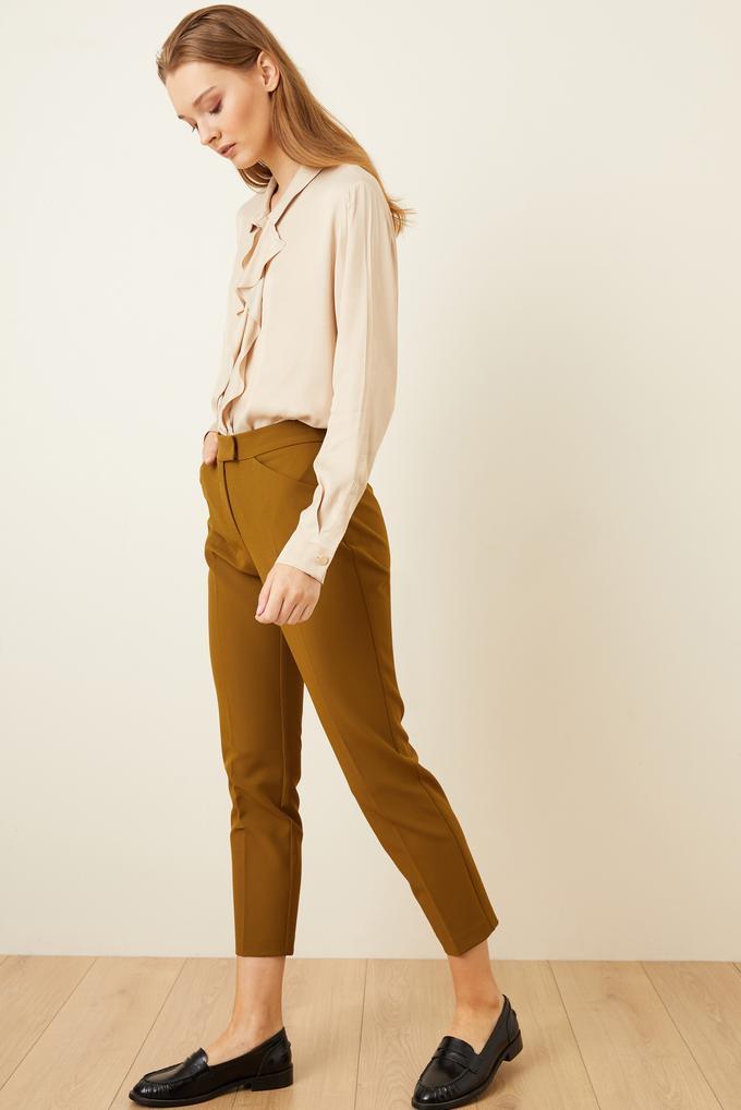Yeşil Cepli Orta Bel Pantolon