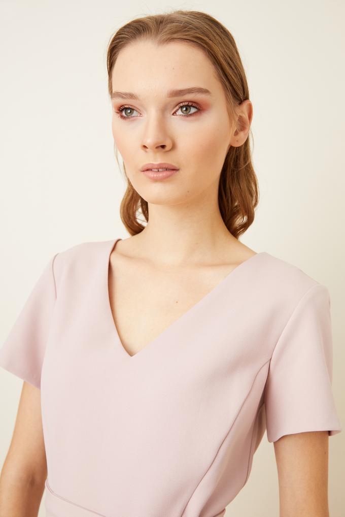 Pembe Beli Kuşaklı Kloş Elbise