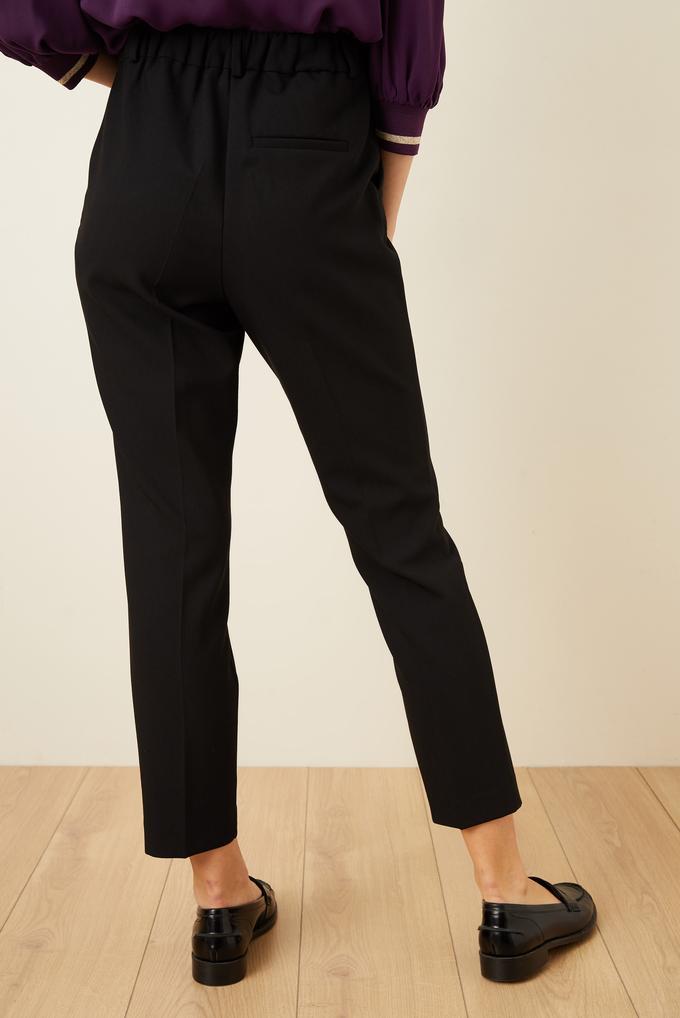 Siyah Arkası Lastikli Pantolon