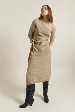 Tek Omuzlu Triko Elbise