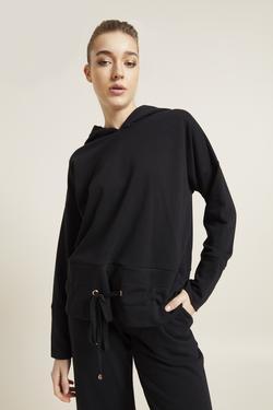 Beli Ayarlanabilir Bağcıklı Sweatshirt