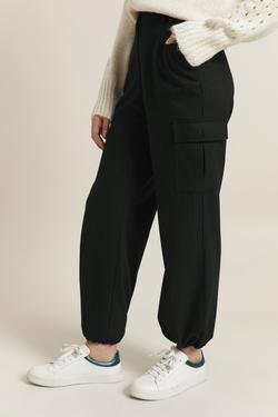 Kargo Cepli Çizgili Pantolon