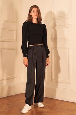 Beli Bağcıklı Saten Pijama Pantolon