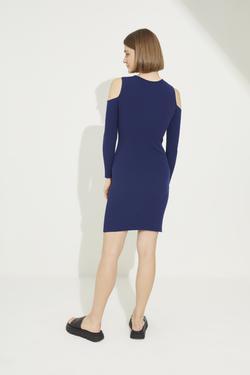 Askılı Yırtmaçlı Triko Elbise