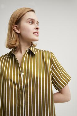 Çizgili Gömlek Elbise