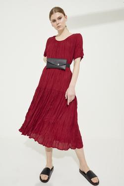 Piliseli Uzun Elbise