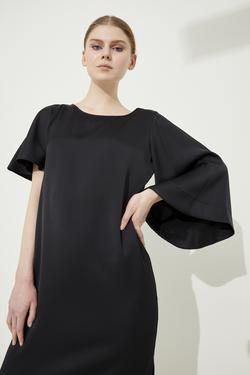 Asimetrik Saten Yüzeyli Elbise