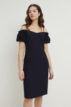 Askılı Omzu Açık Elbise