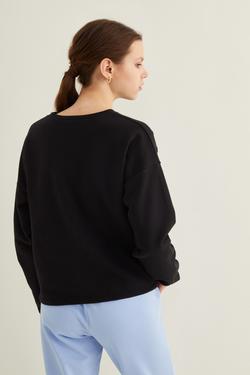 Kesik Detaylı Kısa Sweatshirt