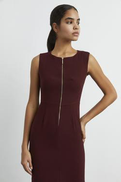 Önden Fermuarlı Elbise