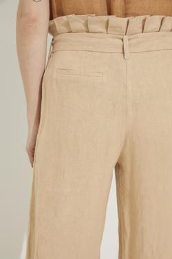 Cepli Keten Pantolon