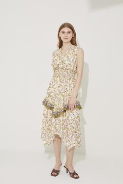 Beli Gipeli Asimetrik Elbise