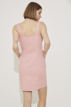 Askılı Önden Düğmeli Elbise